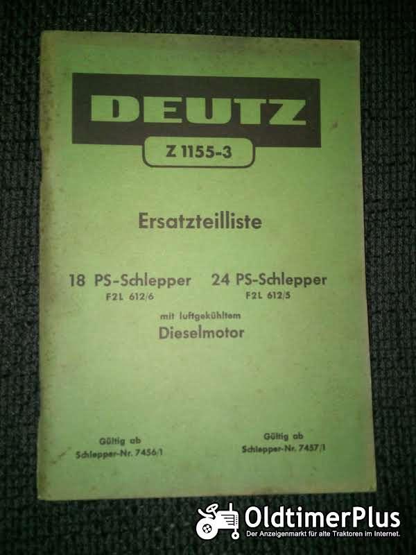 Deutz F2L612/6 F2L612/5 Ersatzteilliste Z 1155-3 Foto 1