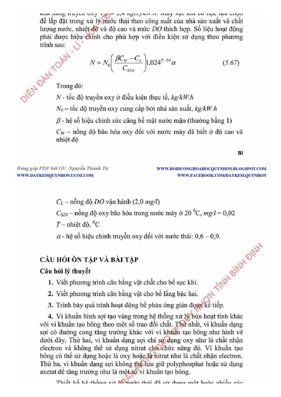 Giáo trình Công nghệ xử lý nước thải: Phần 2 - PGS.TS. Nguyễn Văn Sức