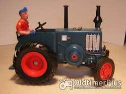 Lanz Bulldog MO-Miniatur Modell in Guss Weissmetall Foto 2