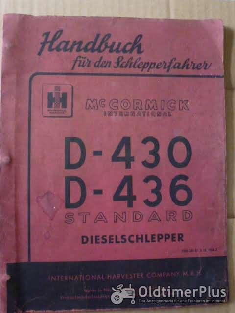 MC Cormick Handbuch für den Schlepperfahrer D430, 436 Foto 1