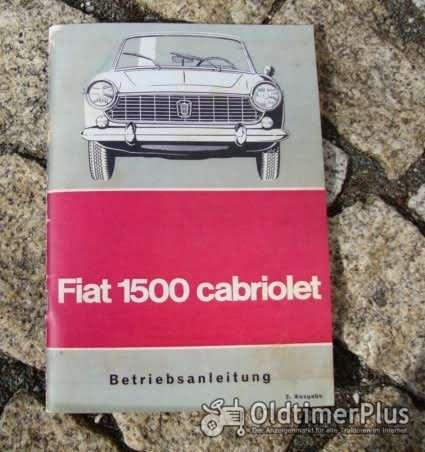 Betriebsanleitung Fiat 1500 Cabriolet (118H) 1964 Foto 1