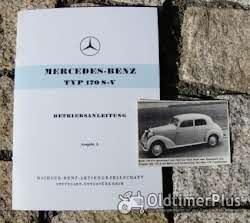 Literatur Betriebsanleitung Mercedes W136 170 S-V 1953