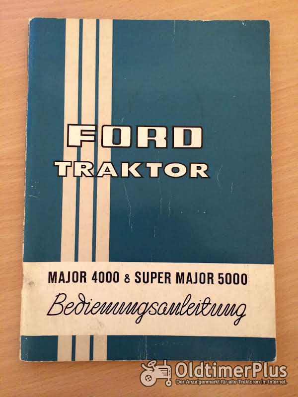 Ford Major 4000 Super Major 5000 Bedienungsanleitung Foto 1