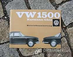 Literatur Betriebsanleitung VW 1500 Karmann Ghia Typ 34 1961