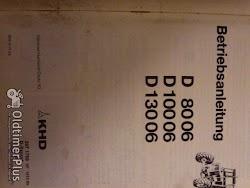 Deutz Betriebsanleitung D 8006, D10006,D13006 Foto 2