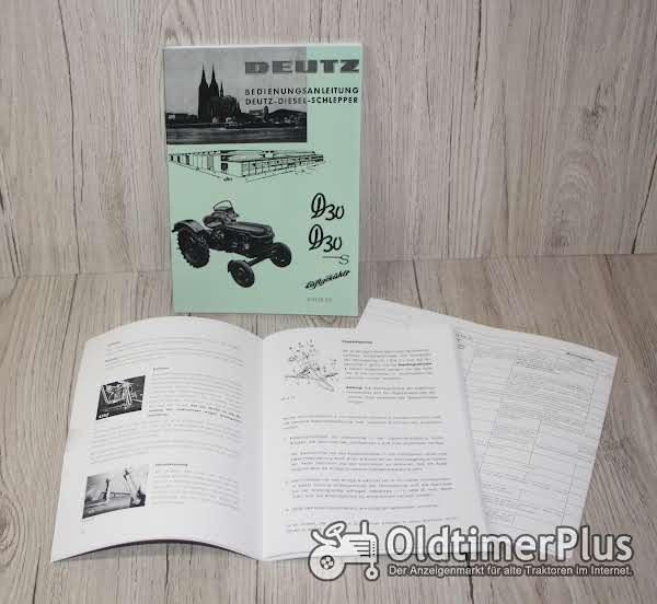 Deutz Bedienungsanleitung Traktor D30 D30S Motor F2L812 H1125-7/1 Foto 1