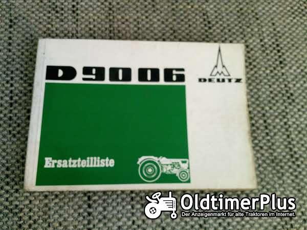 Deutz D9006 Ersatzteilliste Foto 1