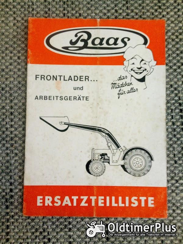 Baas Frontlader und Arbeitsgeräte Ersatzteilliste Foto 1