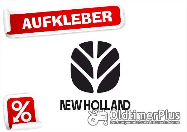 New Holland Aufkleber 8 cm x 8 cm, schwarz Foto 1