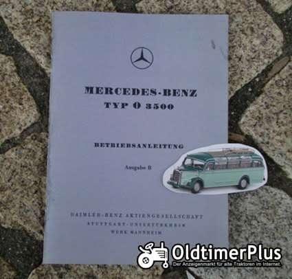 Betriebsanleitung Mercedes O 3500 Omnibus 1950 Hauber Foto 1
