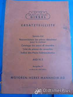 Sonstige Ersatzteilliste MWM Diesel AKD 10Z Ausgabe IV ab Motor 300.3.06971
