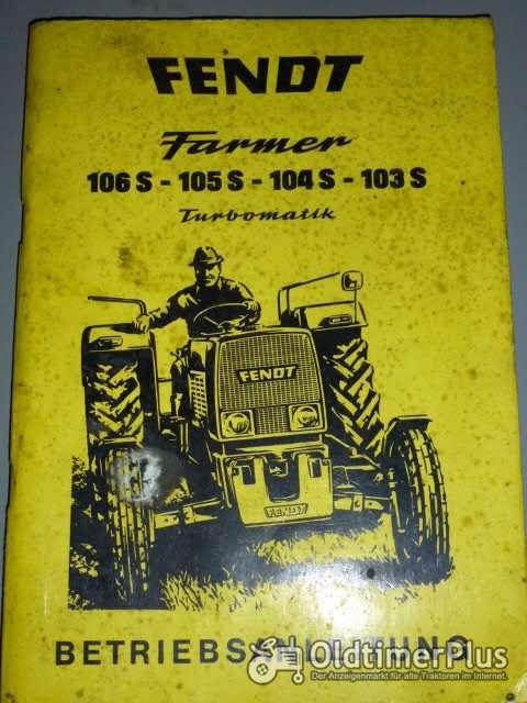 Betriebsanleitung Fendt Farmer Foto 1