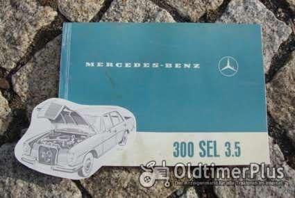 Betriebsanleitung Mercedes 300 SEL 3.5 Limousine 1969 Luftfederung Foto 1