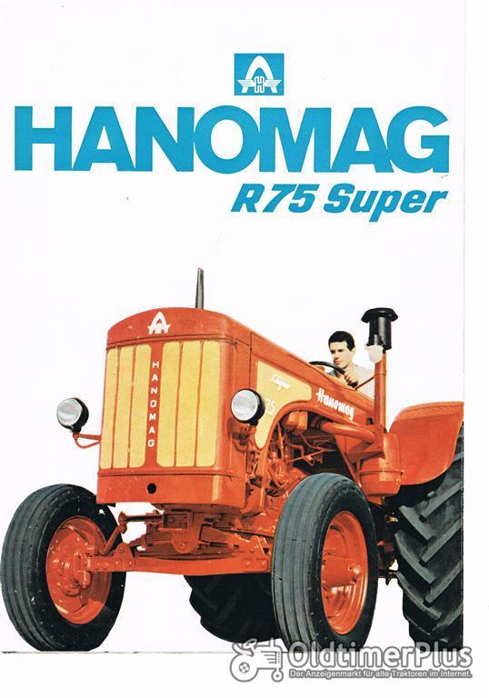 Hanomag R 75 Super traktor Prospekt aus Argentinien Foto 1