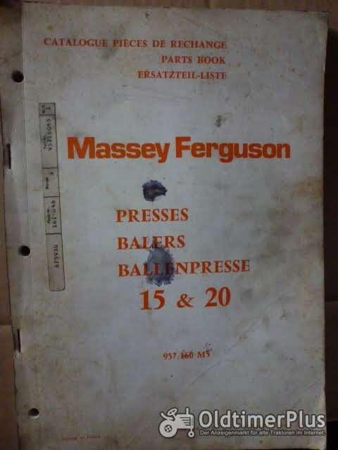 Ersatzteilliste MF Ballenpresse 15&20 Foto 1