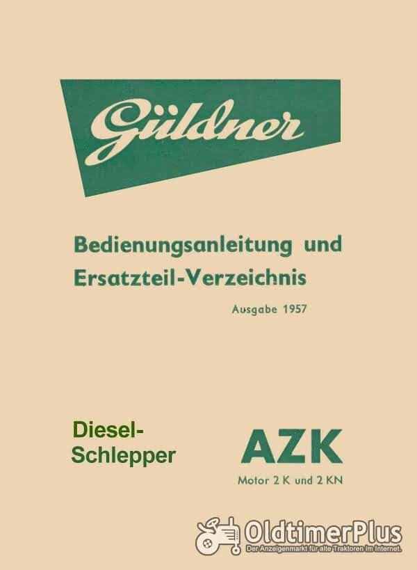 Güldner AZK Bedienungsanleitung u. Ersatzteilverz. im pdf-Format Foto 1
