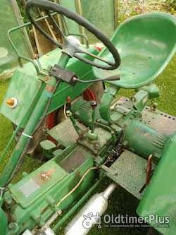 Güldner Oldtimer Traktor A Baureihe mit Mähwerk Foto 6