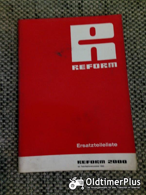Reform 2000 Ersatzteilliste Foto 1