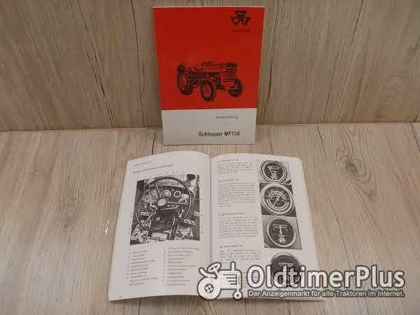 Massey Ferguson Bedienungsanleitung Traktor MF135 42PS ab 1966 bis 1969 Foto 1