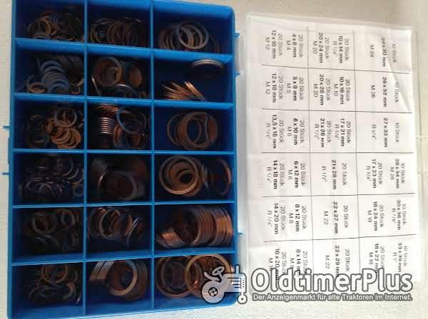 Sortiment 540 Stck. div. Maße Kupferringe Foto 1