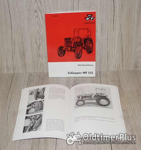 Massey Ferguson Bedienungsanleitung Traktor MF155 Foto 1