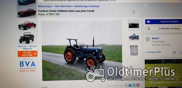 Fordson Traktor Foto 1