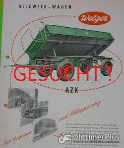 Welger TK60 Triebachsanhänger Einachser Kipper - AZK 60/80F, Blech und Typenschilder Foto 2
