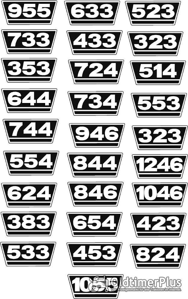neu IHC Traktor Aufkleber 2xTypenaufkleber Logo Emblem Sticker 15x7cm Foto 1