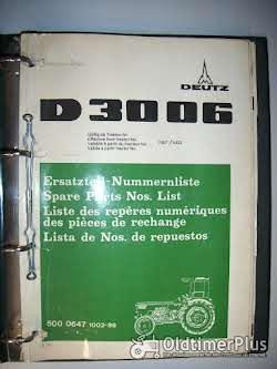 Literatur D 15.1 - D 8006 Ersatzteil-Nummernliste für Deutz-Schlepper