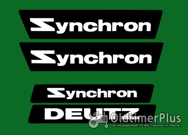 Deutz Aufkleber Synchron NEU Foto 1