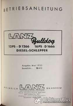 Lanz Bulldog Betriebsanleitung für D1266 / D1666 Foto 2