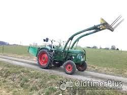 Deutz D4005 Frontlader Kat. 2 hydraulische Lenkung, viele Neuteile Foto 3