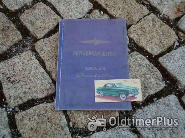 Betriebsanleitung Borgward Isabella Limousine / Cabriolet 1955 Foto 1