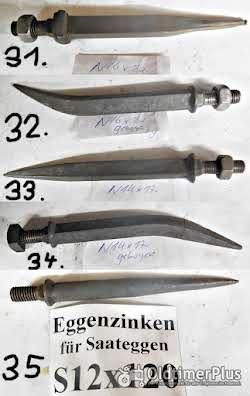 Eicher, Gassner, Eberhardt, Landsberger, Lemken Pflugteile, Düngereinlegerschare, Saatbeetkombination, Eggenzinken Foto 9