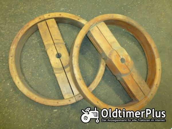 Flachriemenscheibe aus Holz Foto 1