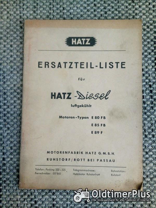 Hatz Diesel E 80 FB / E 85 FB / E 89 F Ersatzteilliste Foto 1