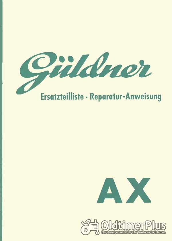 Güldner AX Ersatzteilliste Reparaturanleitung im pdf-Format Foto 1