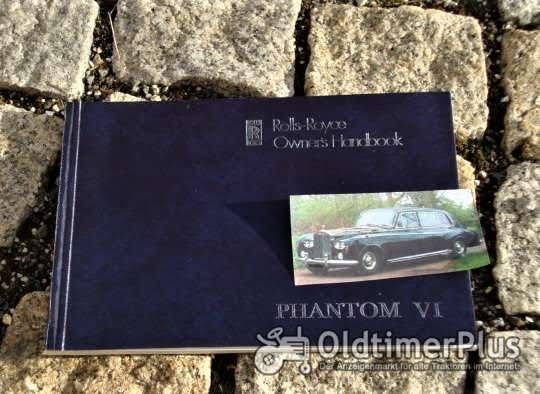 Betriebsanleitung Rolls Royce Phantom VI 1978 Foto 1