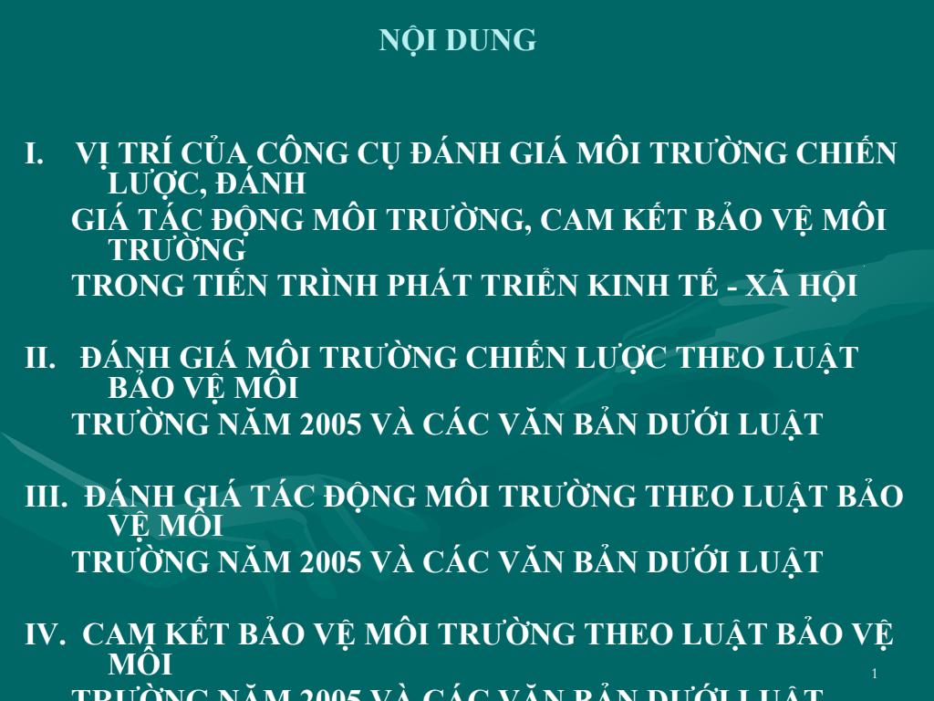 Luật Bảo vệ môi trường - TS. Nguyễn Khắc Kinh
