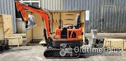 AgrimeXX HT12 Minibagger, 1 to, Knickmatik, Löffelpaket uvm. Foto 5