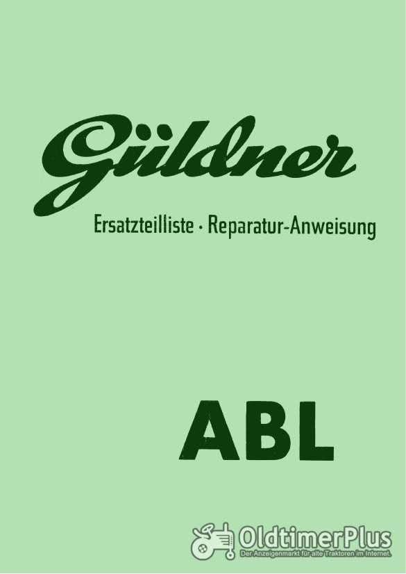 Güldner ABL Ersatzteilliste Reparaturanleitung im pdf-Format Foto 1