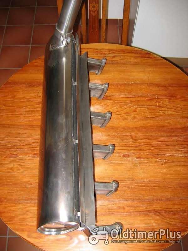 Schalldämpfer aus Edelstahl für Deutz D80 - D8005 und D9005. Foto 1