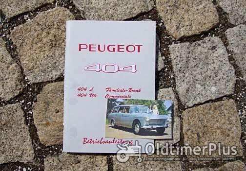 Betriebsanleitung Peugeot 404 Break Familiale Commerciale 1971 Foto 1