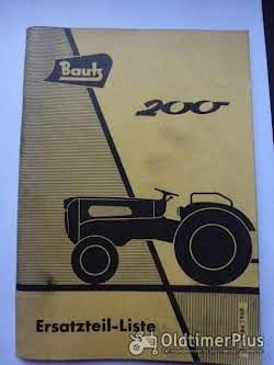 Literatur Ersatzteilliste Bautz 200