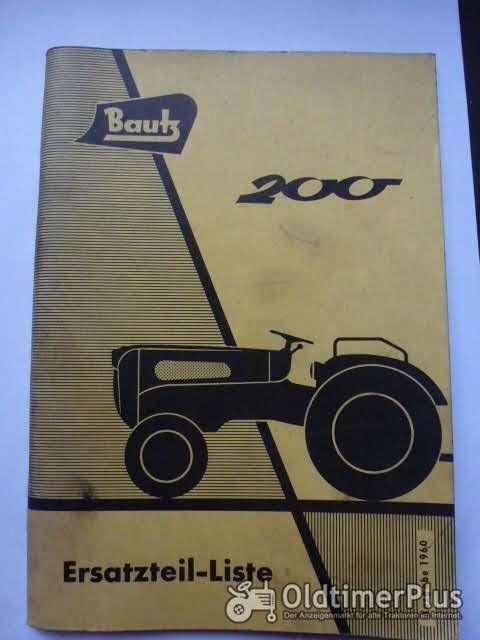 Ersatzteilliste Bautz 200 Foto 1