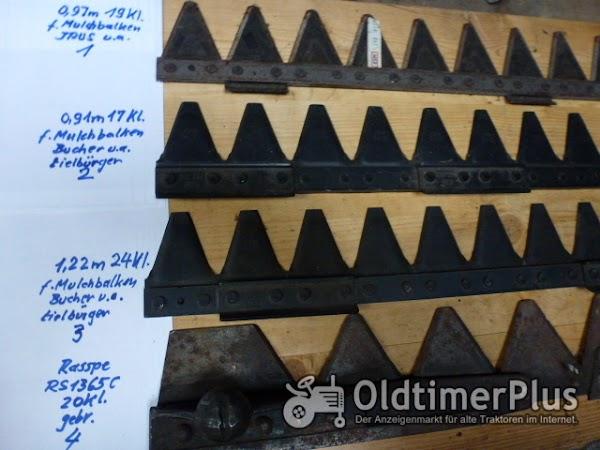 diverse Mähmesser verschiedene für Mulchbalken Foto 1