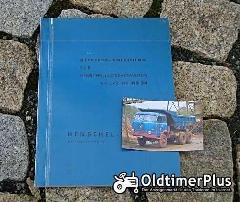 Betriebsanleitung Henschel HS 34 1962 (HS 180 TAK) Foto 1