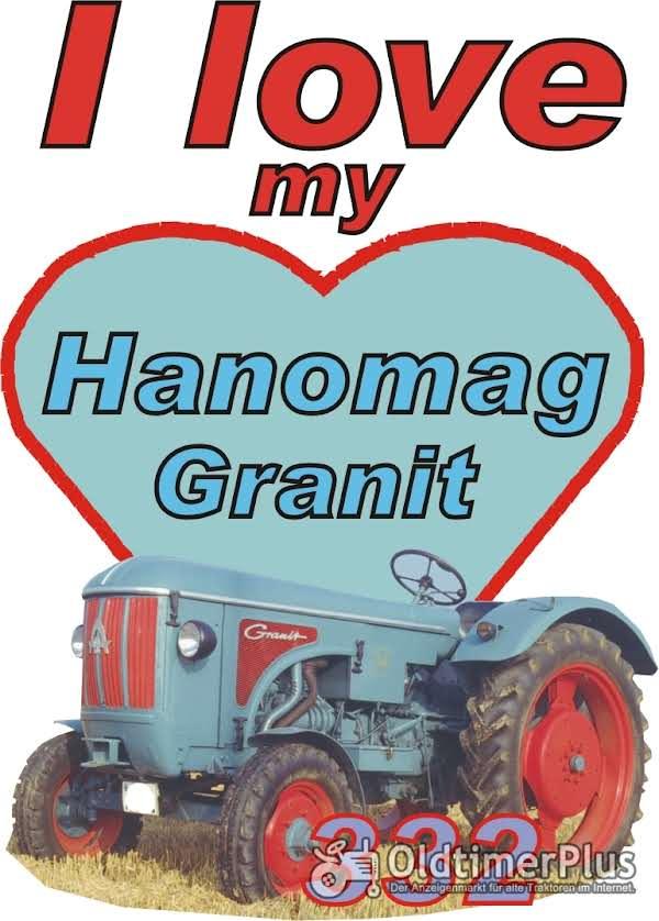 I love Hanomag Granit 332  T-Shirt Foto 1