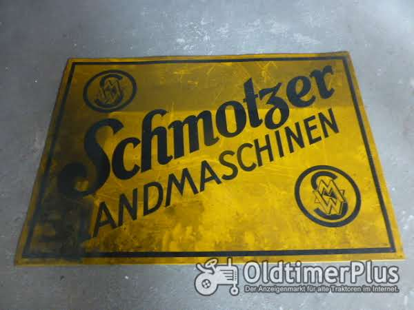 Blechschild  SCHMOTZER Foto 1