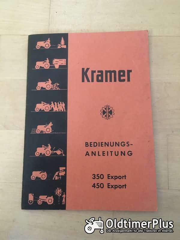 Kramer Bedienungsanleitung 350 und 450 Export Foto 1